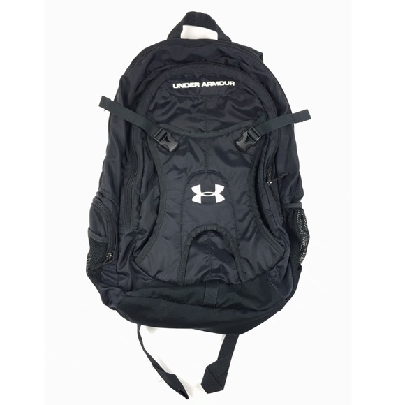 Under Armour Black Striker Logo Backpack Book Bag.  M 5b7075c142aa761e64b27cb2 e57eb16983